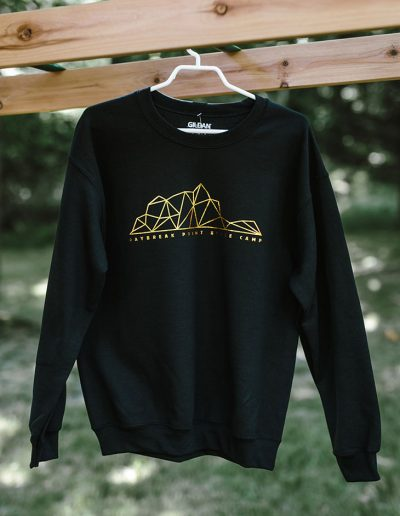 Gold Foil Geo Crewneck (Black)