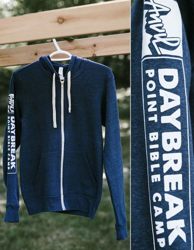 Navy Zip Up.