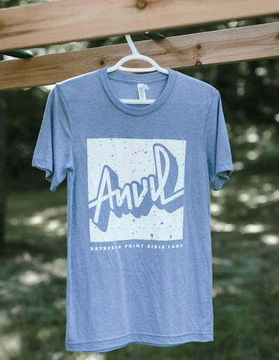 Blue Triblend Anvil Shirt