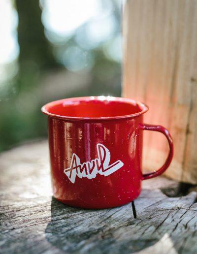 Red Camping Mug