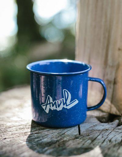 Blue Camping Mug